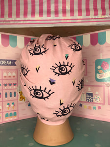 All seeing eye pink head wrap