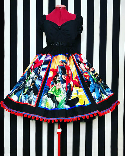 Comic super hero skirt