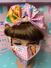 Load image into Gallery viewer, 50's housewives potty mouth pink gingham head wrap