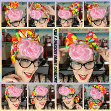 Load image into Gallery viewer, Rainbow & clouds head wrap