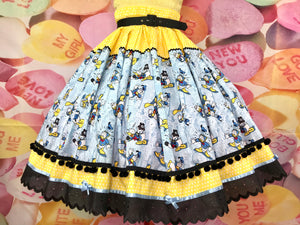 Donald Duck Disney inspired skirt
