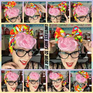 Pink fairy bread head wrap