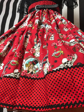 Load image into Gallery viewer, Tattoo inspired rockabilly skirt
