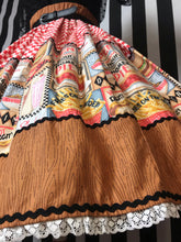 Load image into Gallery viewer, 50s diner print skirt