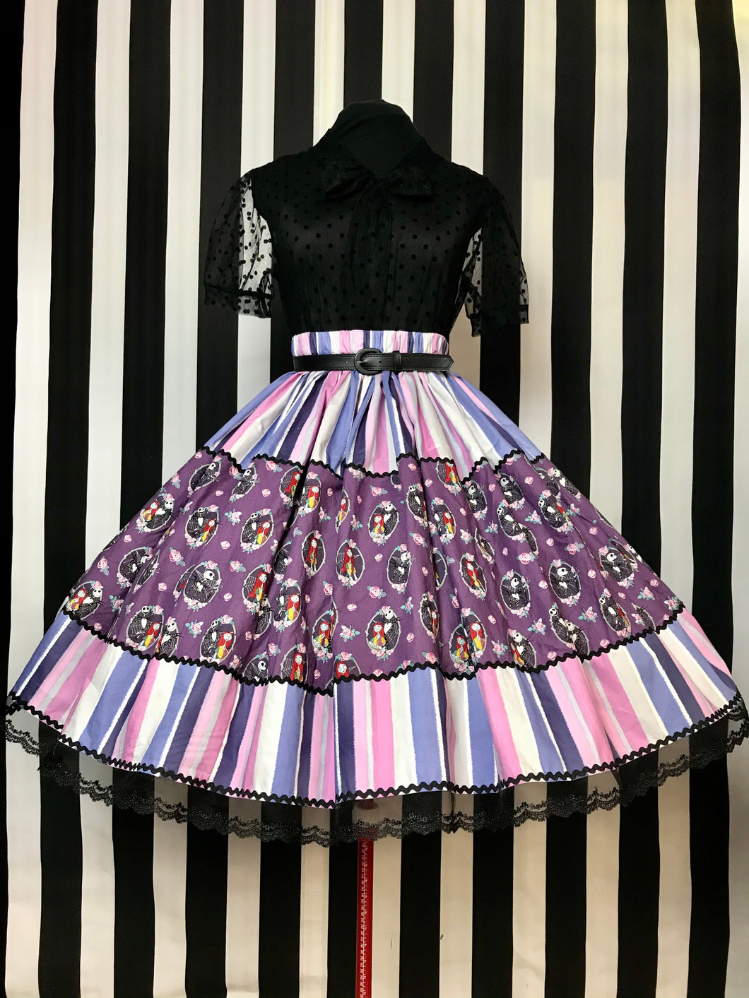 Jack and Sally ornate skirt