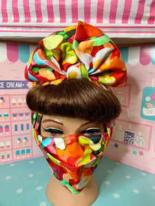 Mixed lollies head wrap