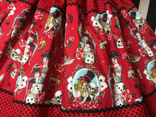 Load image into Gallery viewer, Tattoo inspired rockabilly 3 panel skirt