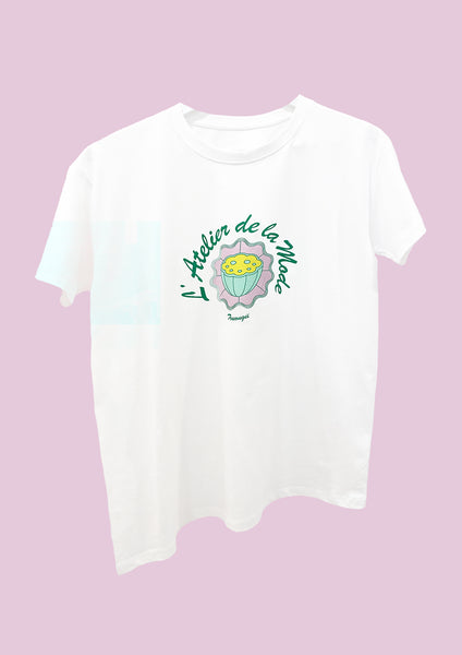 TRUONGII LOTUS SMILEY T-SHIRT