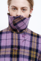 TRUONGII Lilac Checked Coat