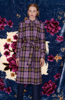 Violet Checked Coat