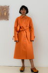 TRUONGII WAX Orange Trench Coat