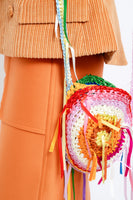 hand crochet  multi color bag
