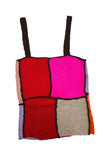 Knitted Patchwork Top Red and Lilac
