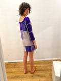 TRUONGII Purple Patchwork Knit Dress