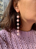 Rose Pearl String Earrings