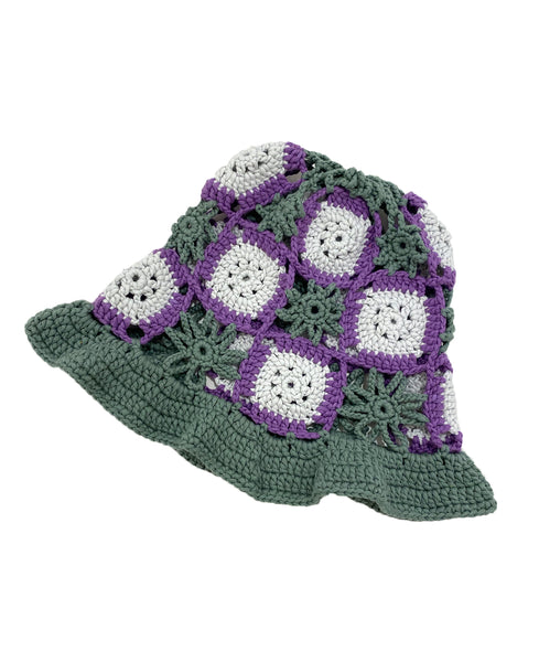 TRUONGII Crochet Hat Grey Green