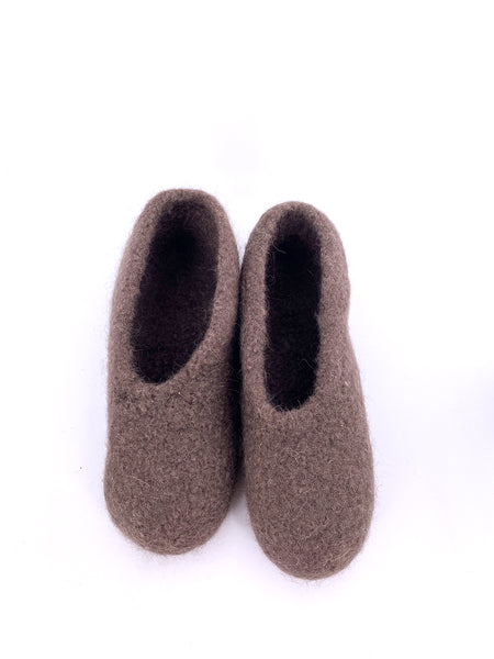 Brown Felt Slipper size 38