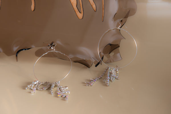 CRYSTAL LOOPS earrings