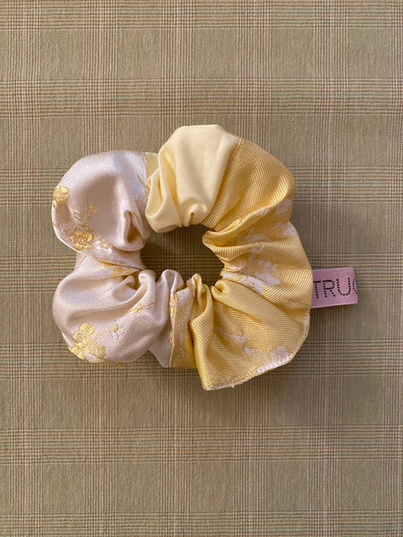 Yellow Patchwork Scrunchie