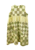 Yellow Patchwork Balloon Dress