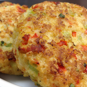 Shrimp and Veggie Fritters