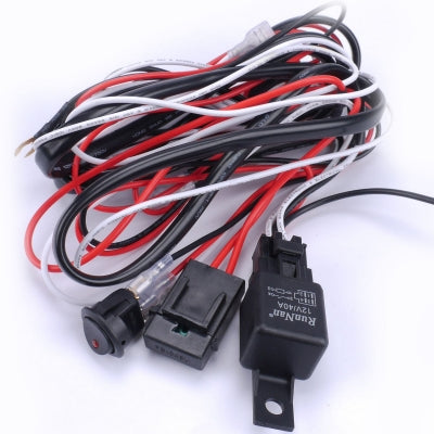 Stupendous Wiring Harness Switch Relay Kit For Connect 2 Led Work Driving Light Wiring Cloud Hisonuggs Outletorg