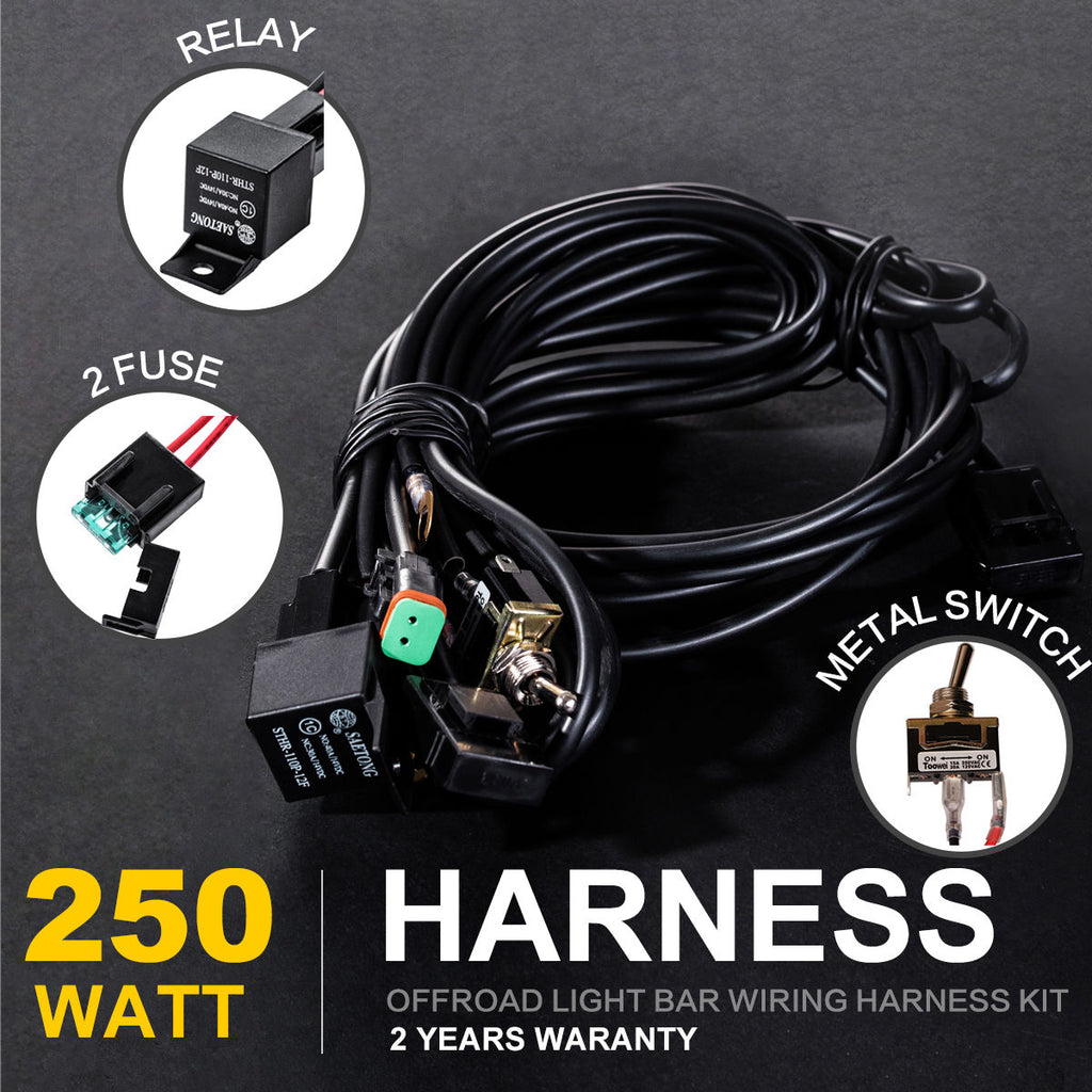 on hid fuse relay wiring harness kit