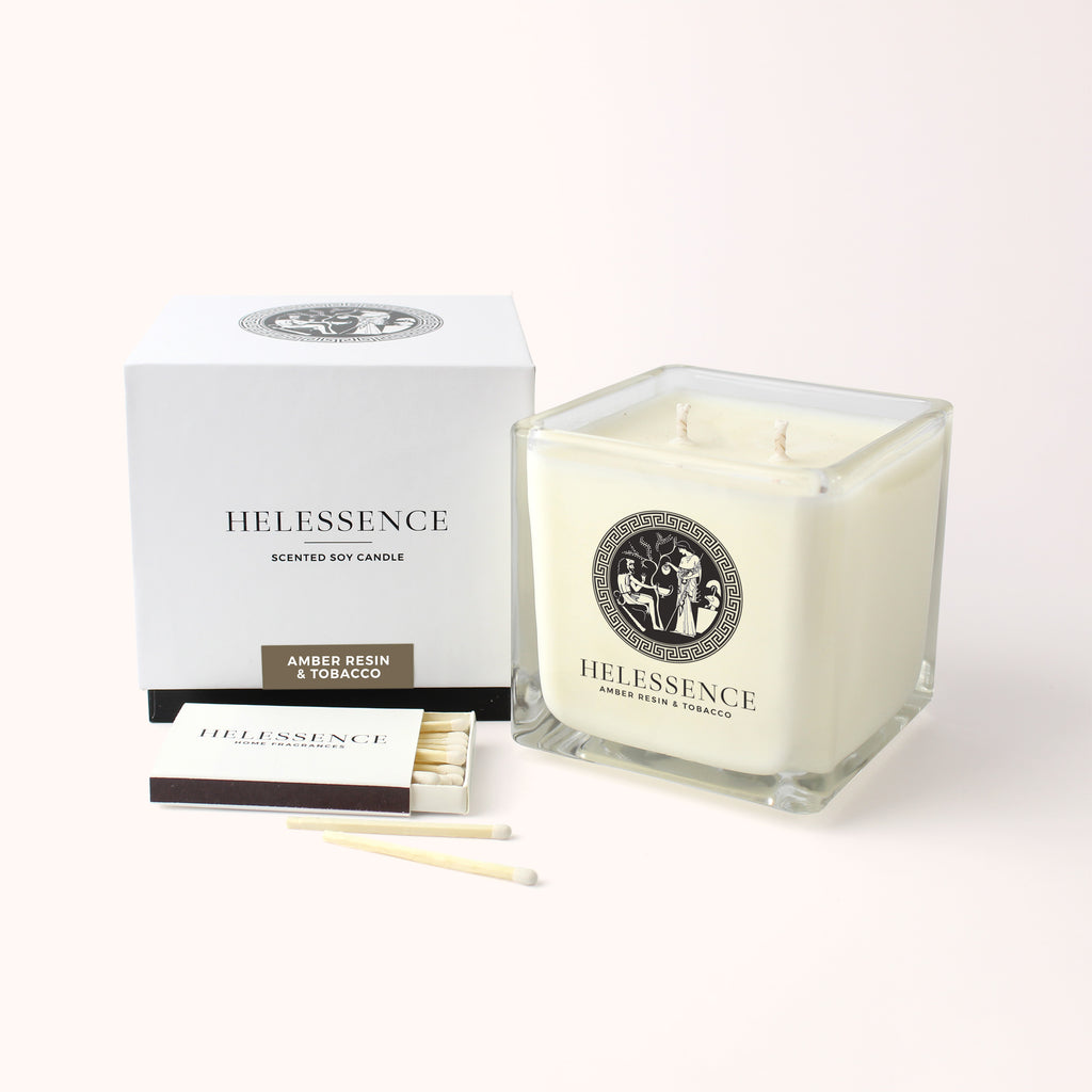 Amber Resin & Tobacco Scented Candle