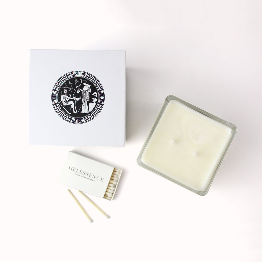 Olibanum & Almond Scented Candle