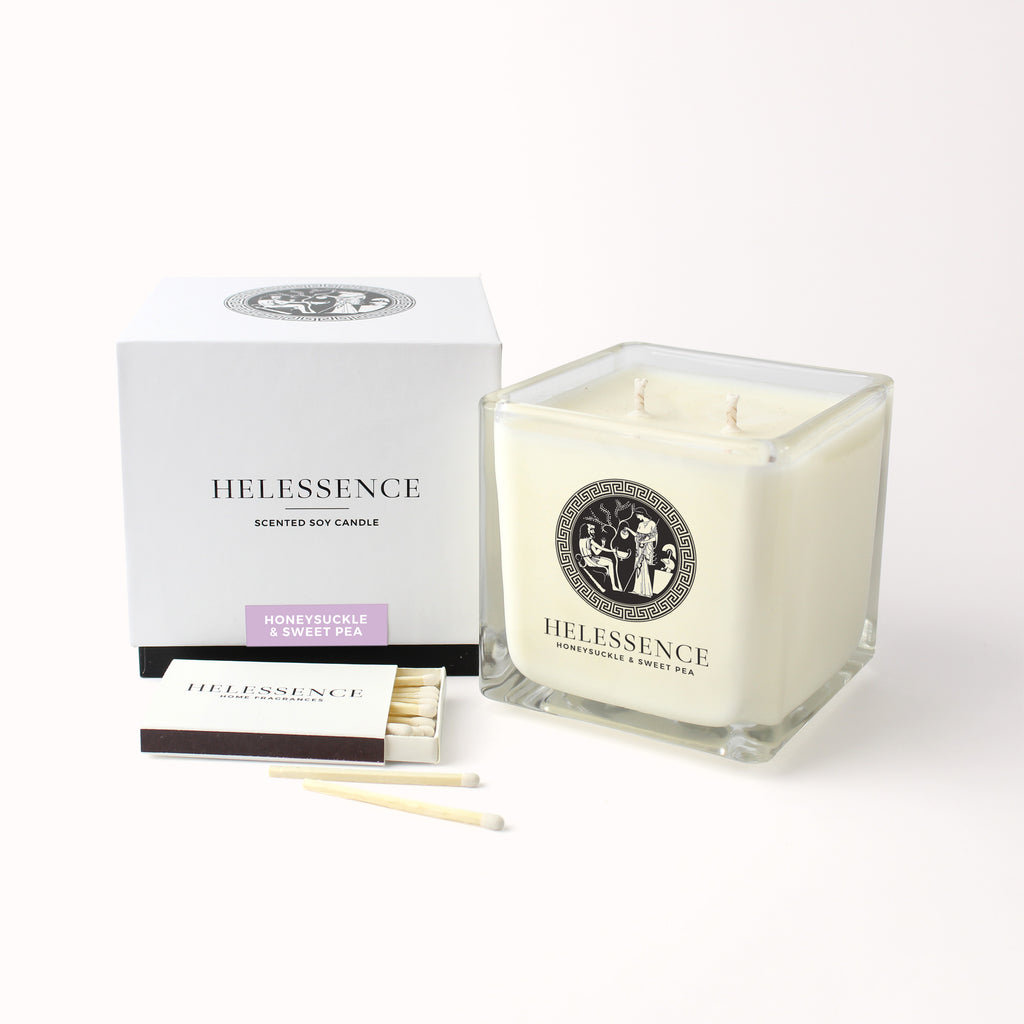 Honeysuckle & Sweet Pea Scented Candle