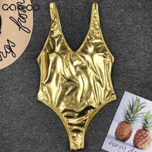 Load image into Gallery viewer, Gold Girl Swimsuit