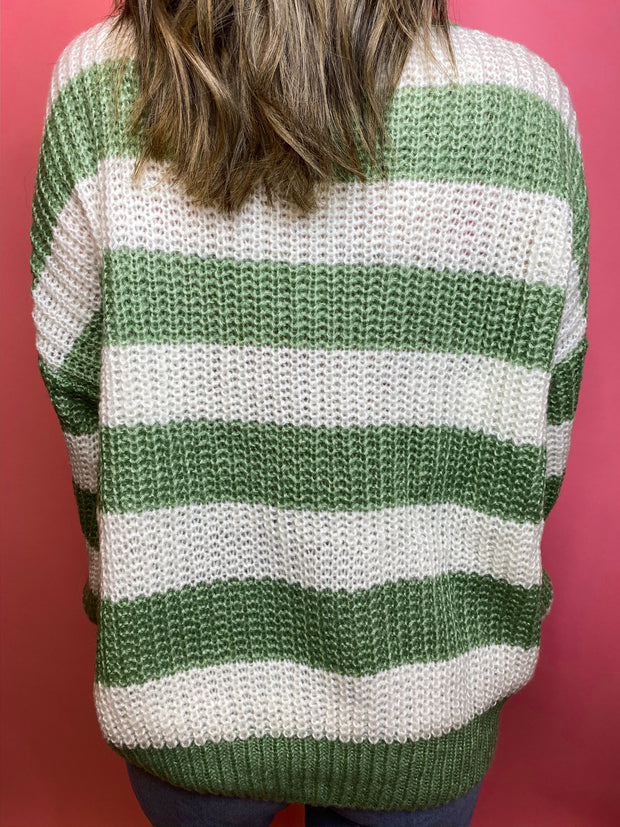 The Sage Stripe Sweater