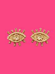 Golden Eyes Earrings