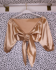 Sierra Satin Knot Top