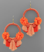Poppy Orange Earrings