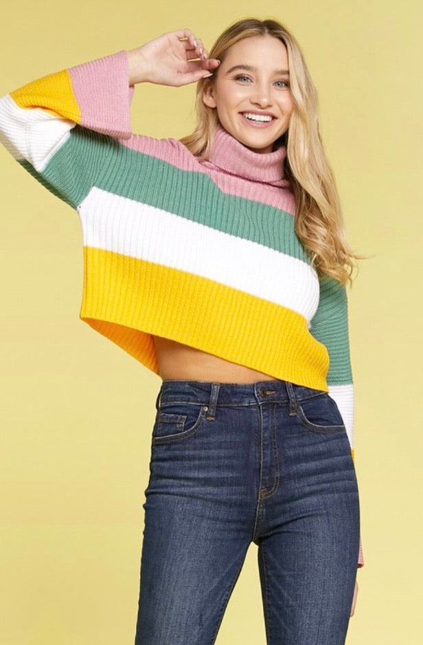 The Tiff Mock Neck Sweater