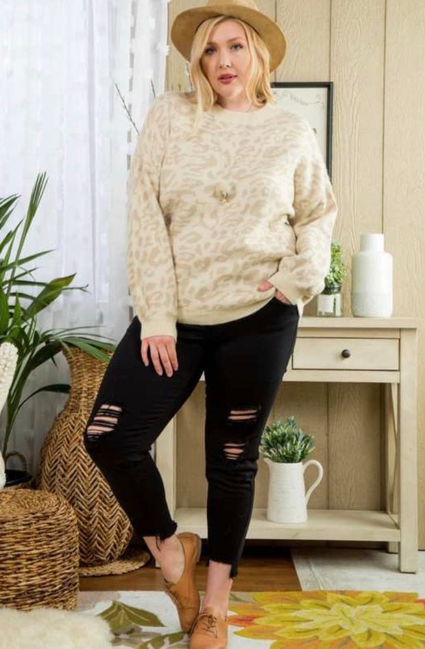The Taupe Leopard Sweater