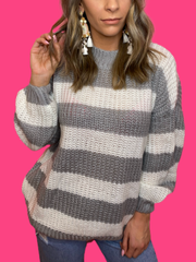 The Grey Stripe Sweater