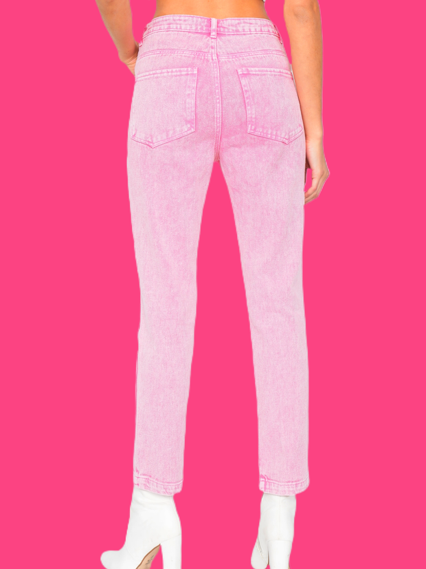 The Pink Acid Wash Denim