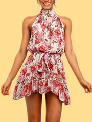 The Rose Ruffle Mini Dress