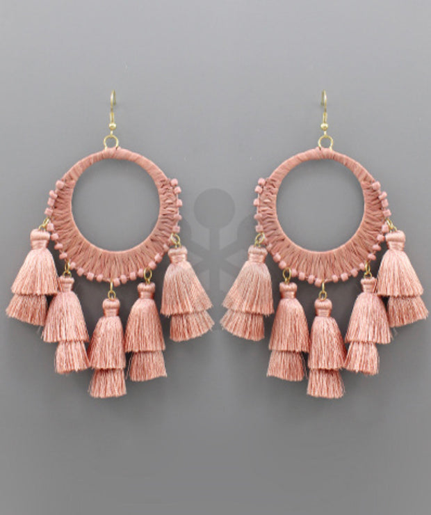 Blushin Thread Earrings