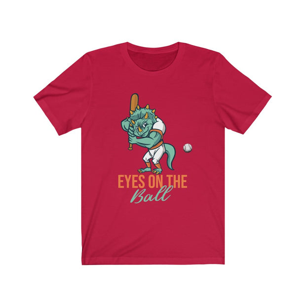 Eyes on the Ball Dino- Unisex Jersey Short Sleeve Tee - WeHeartDinos