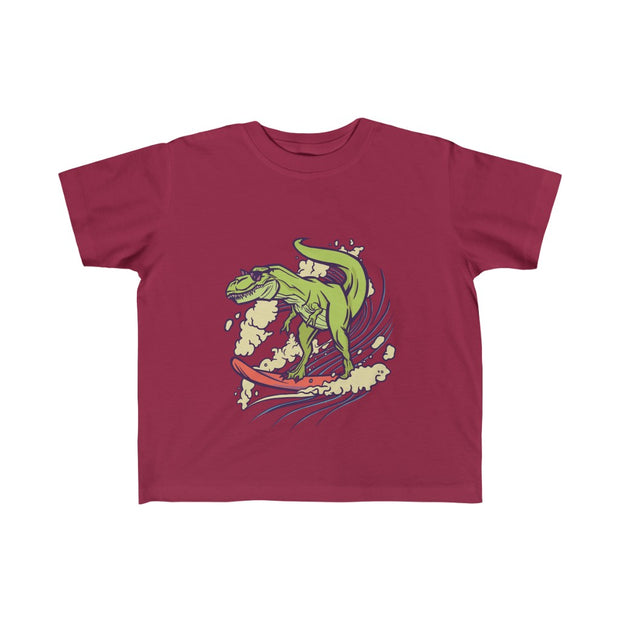 T-Rex Surfing- Toddler Fine Jersey Tee - We Heart Dinos