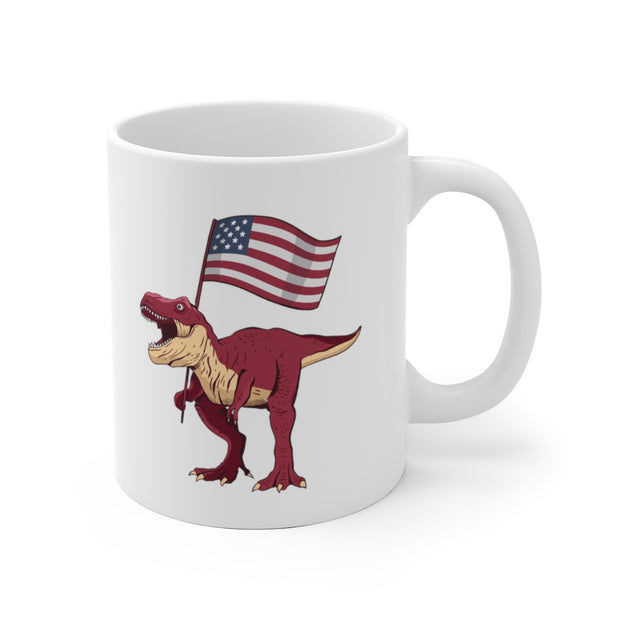Patriotic - Dinosaur Mug - We Heart Dinos
