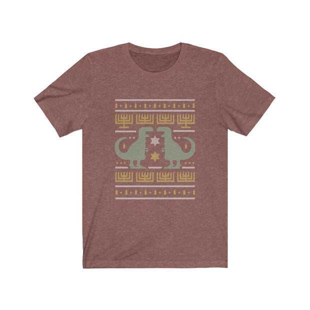 Hanukkah Ugly Tee- Dinosaur T-shirt - We Heart Dinos