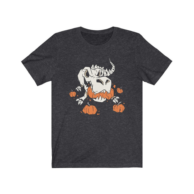 Skeleton in Pumpkin Patch- Dinosaur T-shirt - We Heart Dinos