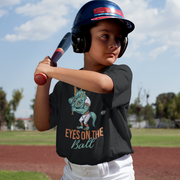 Eyes on the Ball- Toddler Fine Jersey Tee - WeHeartDinos