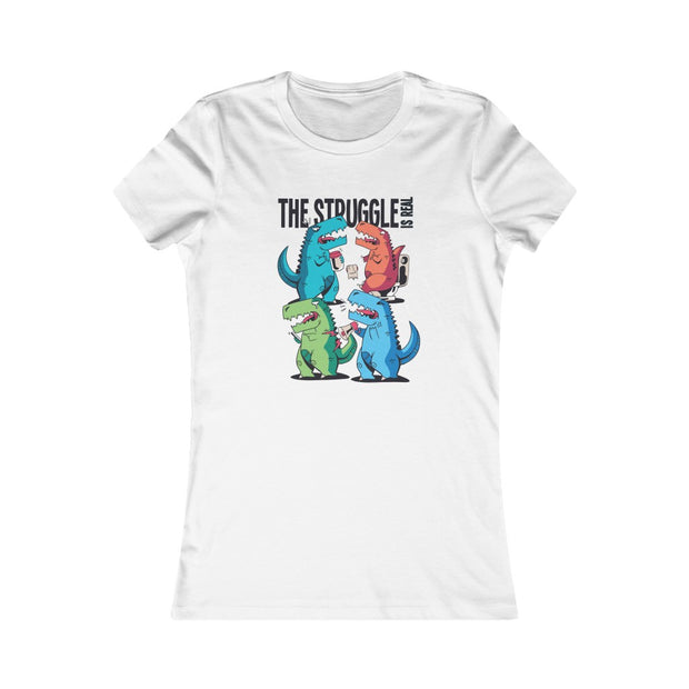 T-Rex Struggles- Women's Dinosaur T-shirt - We Heart Dinos