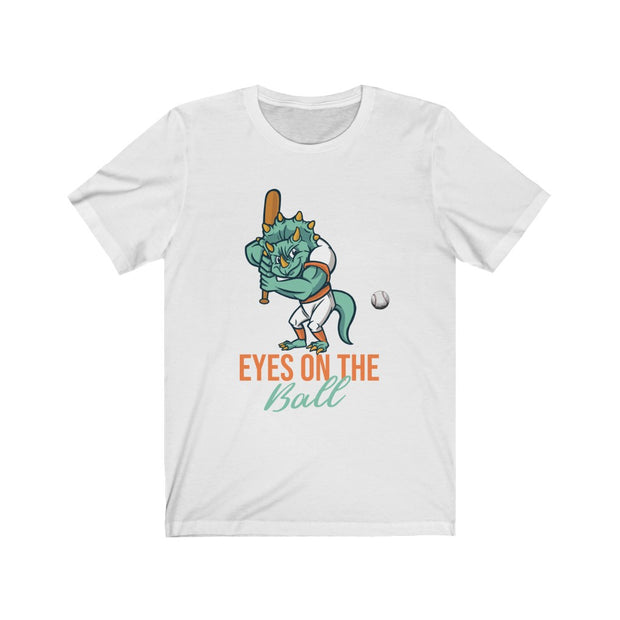Eyes on the Ball Dino- Unisex Jersey Short Sleeve Tee - We Heart Dinos