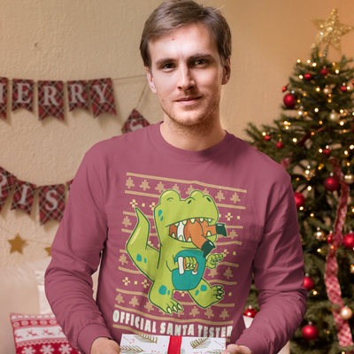 Official Santa Tester- Dinosaur T-Shirt - We Heart Dinos